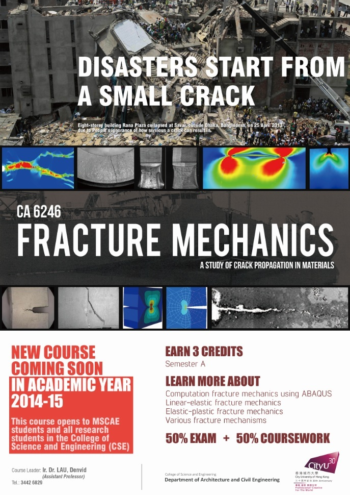 thesis on fracture mechanics The fatigue and durability behaviour of automotive adhesives part i: fracture mechanics tests.